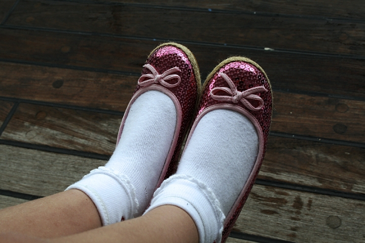 Blänkande skor