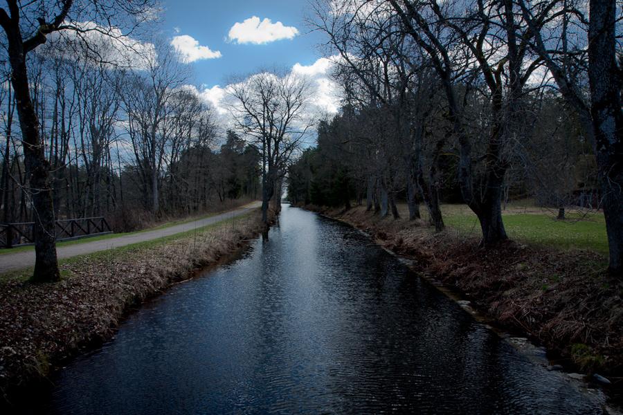 landskapet  vatten Strömsholm kanal