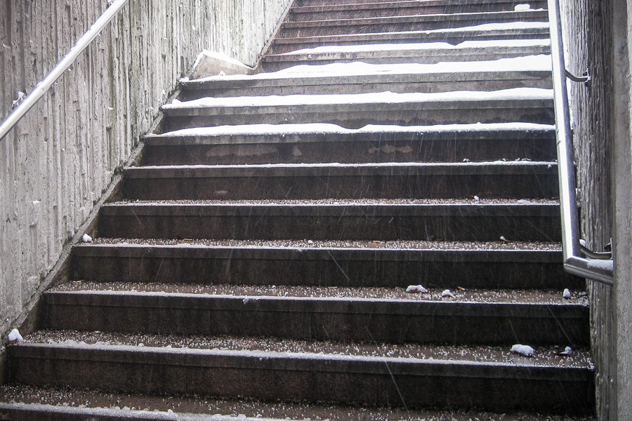 stadsmiljo 365 foton 2013  trappa snö