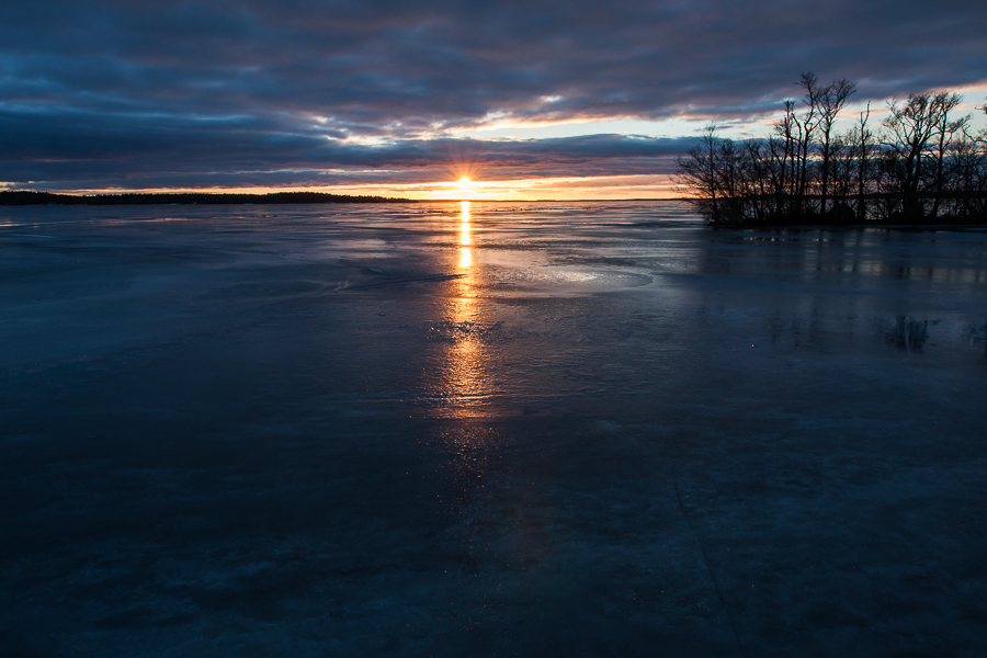 landskapet det vackra ljuset 365 foton 2013  vinter vatten mörker Mälaren is