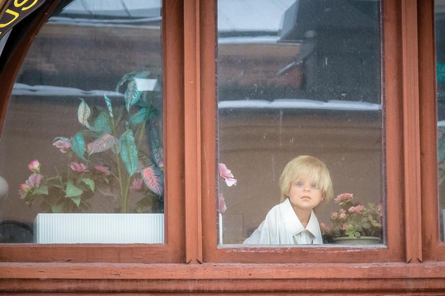 I ett fönster